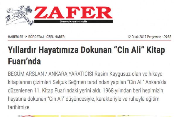 Zafer Gazetesi, Begüm ARSLAN, Ocak 2017