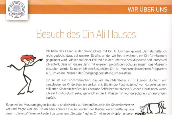 Alman Büyükelçiliği Anaokulu Dergisi, Ağustos 2017