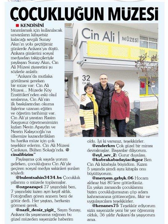 Çocukluğun Müzesi - Hürriyet Ankara - 07.01.2020
