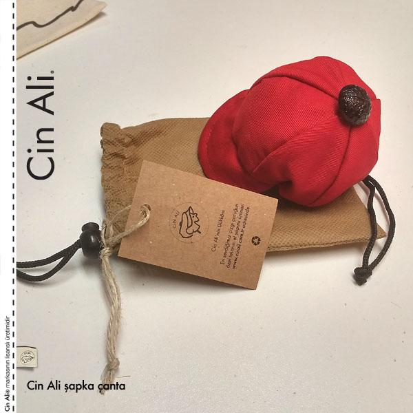 Cin Ali Şapkalı Alışveriş Çantası
